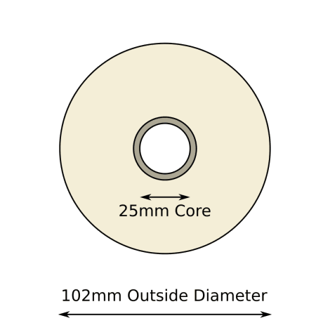 102mm x 149mm Direct Thermal Labels