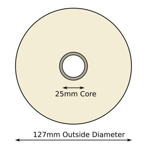 102mm x 76mm Thermal Transfer Labels