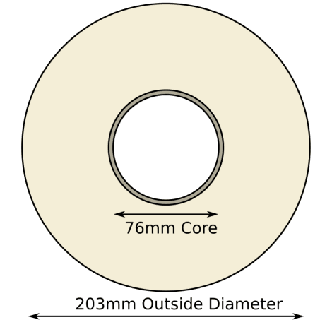 102mm x 152mm Direct Thermal Labels