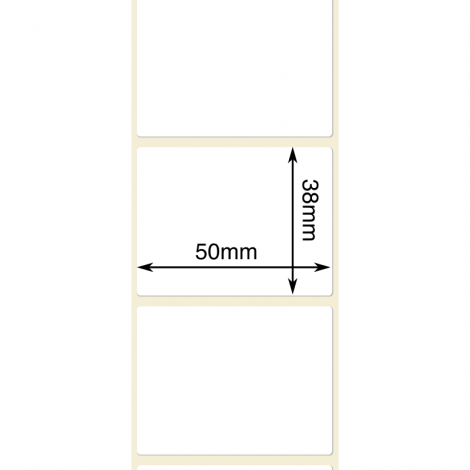 50mm x 38mm Thermal Transfer Labels