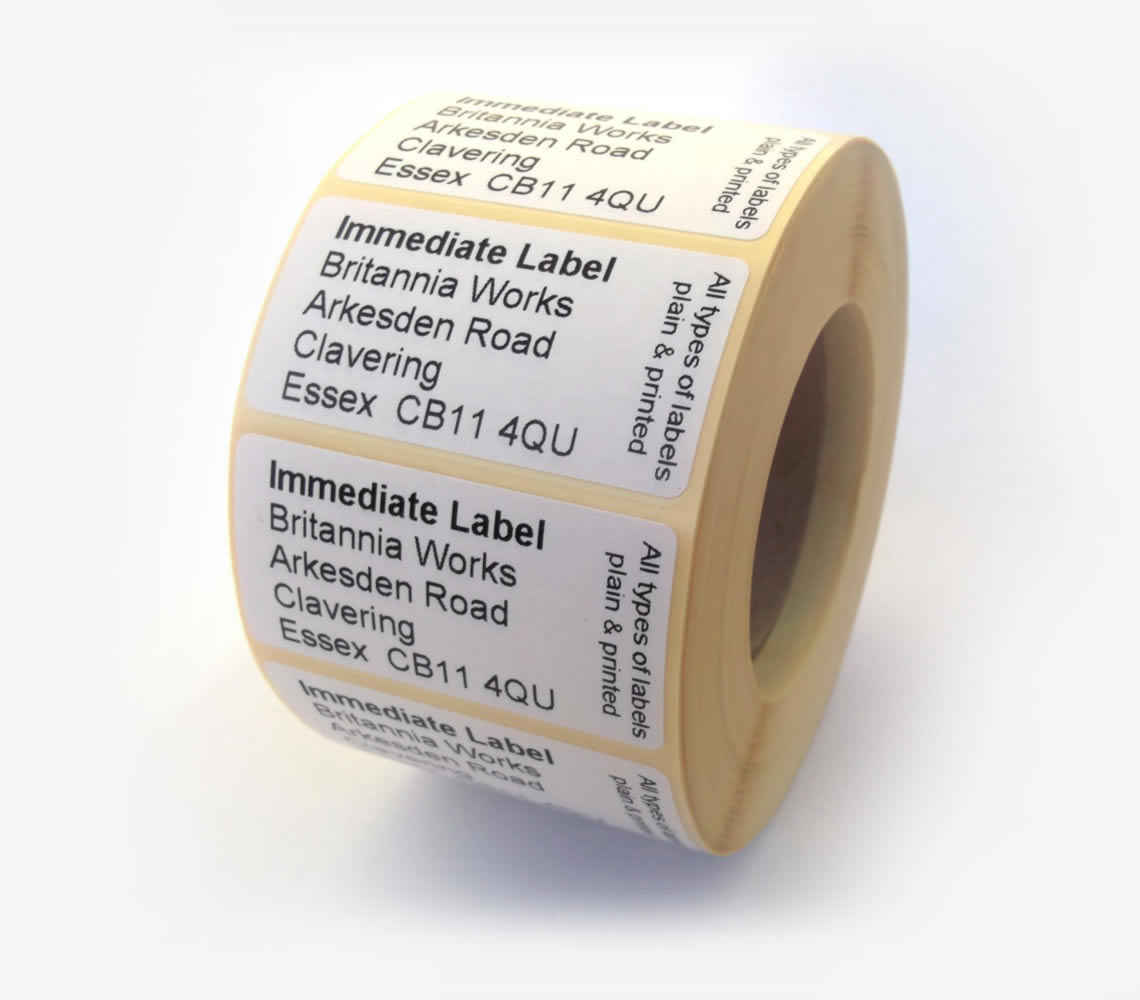 Immediate Label ltd - Plain and printed labels on rolls and